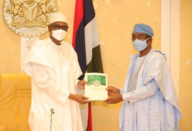 Buhari receives National Security Report from Speaker Gbajabiamila