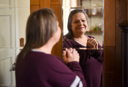 Connie Parke can now see herself in the mirror