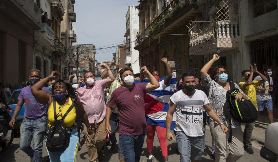 Cubans protest against their communist regime in Havana