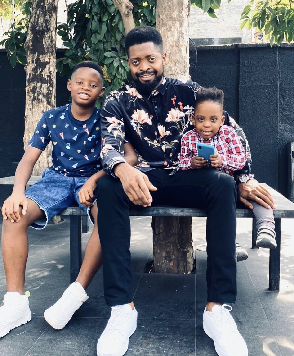 Basketmouth and his sons