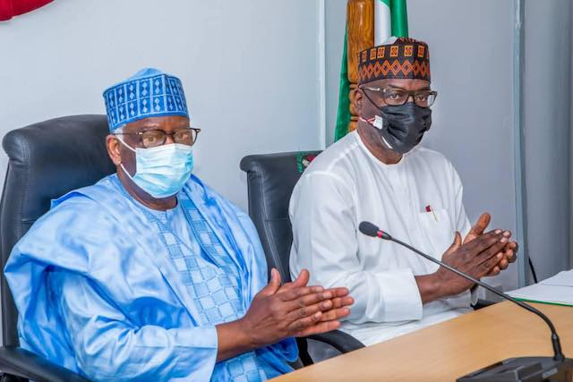 Gambari and Gov. AbdulRazak at the inauguration of peace committee for Offa and Erinle