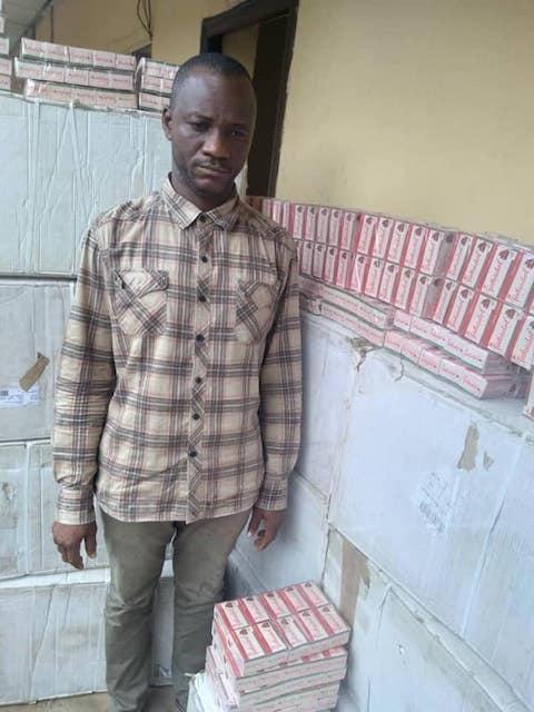 Okeke Chijioke Tramadol Kingpin arrested in Anambra