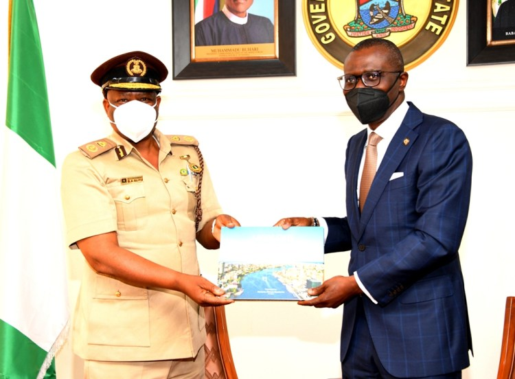 Sanwo-Olu with NIS boss Bauchi Aliyu