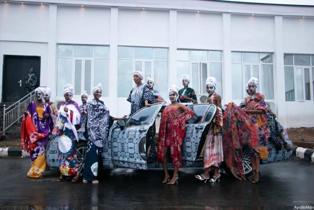 Ronke Ademiluyi brands Ooni's Bentley with Adire