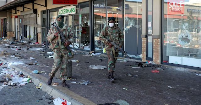 Soldiers patrol the streets in worst violence in South Africa over Zuma