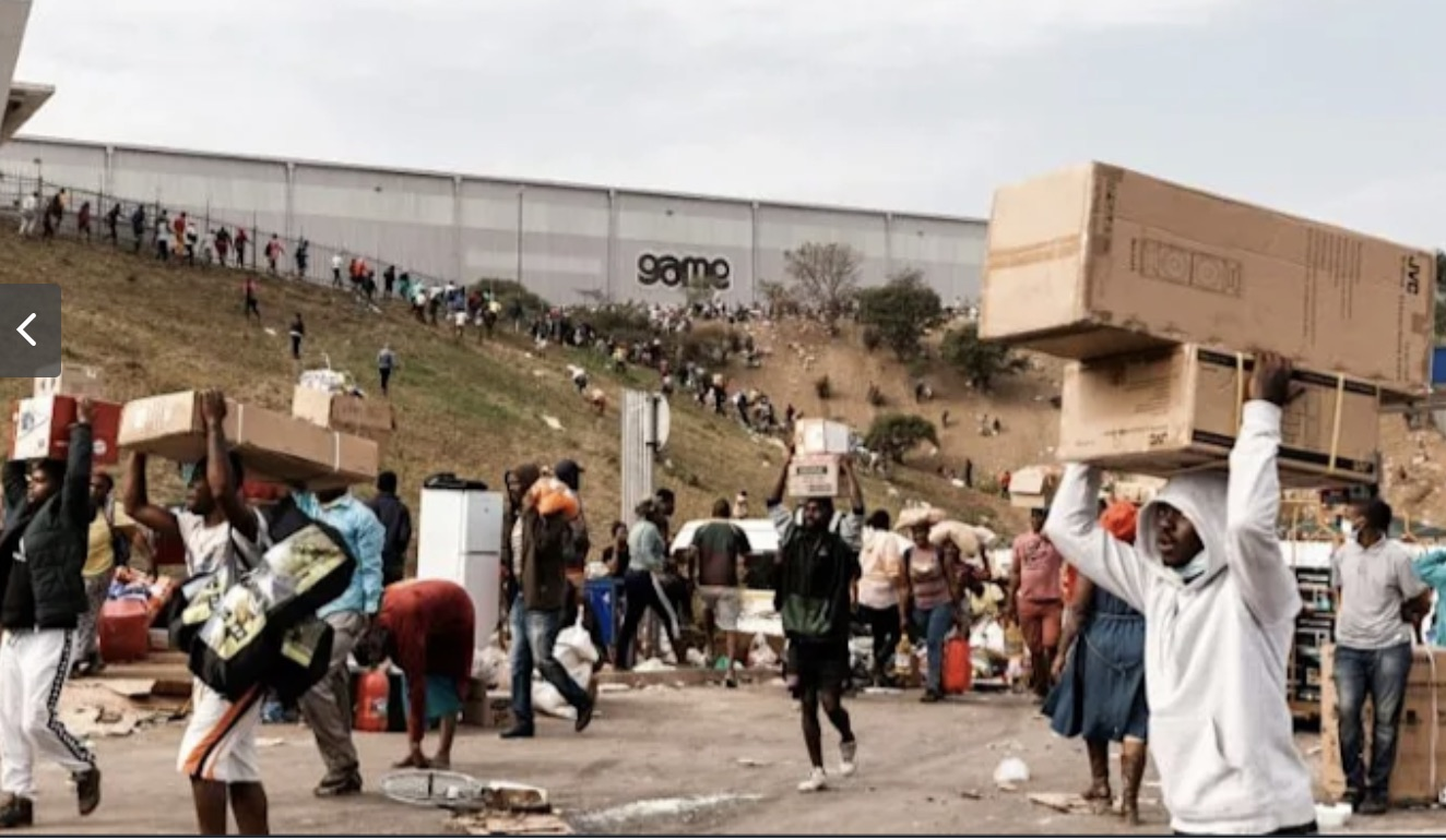 South Africa's looters or rioters