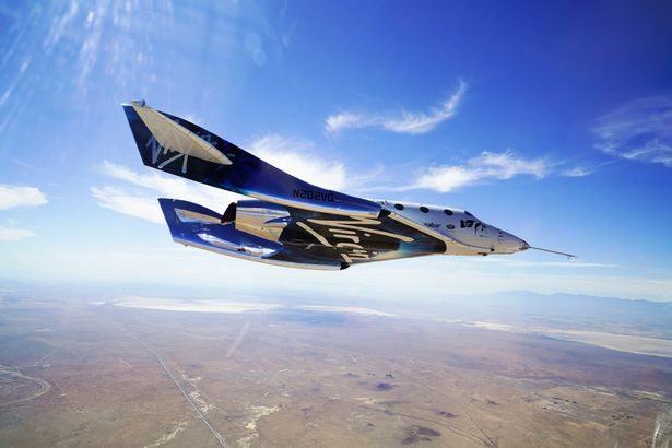 VSS Unity on its second Supersonic flight 29 May 2018