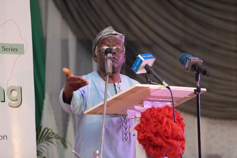 Falana speaking at the event. Photo: Efunla Ayodele