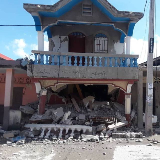 Another house shaken by Haiti the earthquake