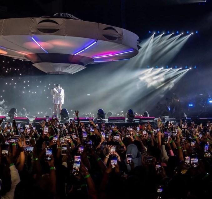 Burna Boy at 02 Arena concert