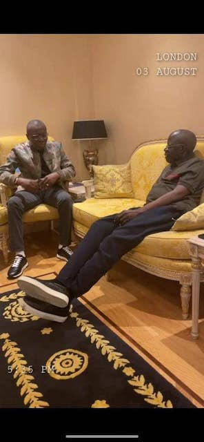 Sanwo-Olu visits Tinubu London
