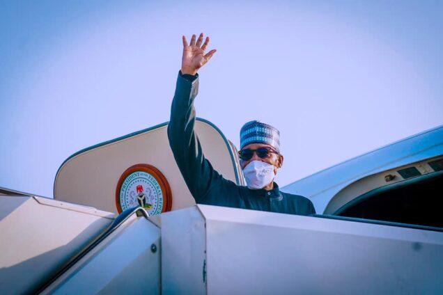 President Buhari says goodbye as he leaves for New York