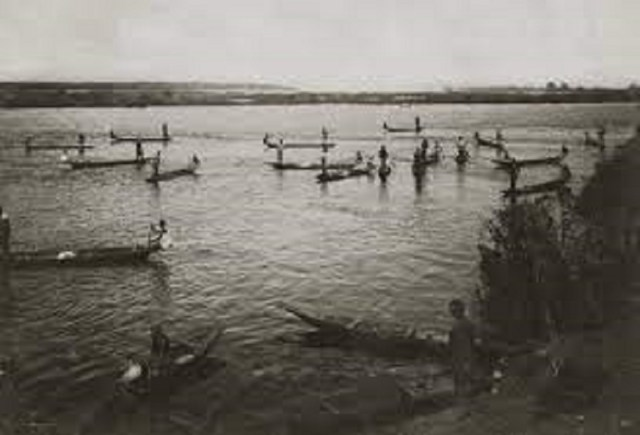 Fishermen in Lake Chad