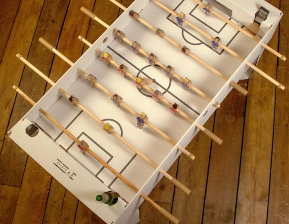 a flatpack foosball table made