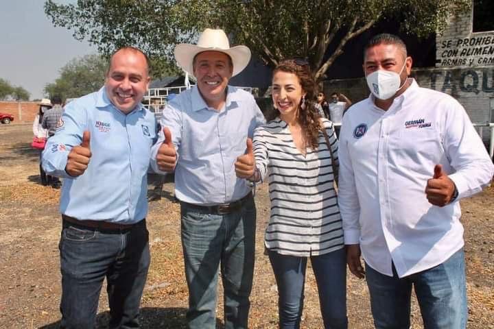 Jorge Ortiz, Miguel Márquez, Grecia Pantoja y Germán Martínez
