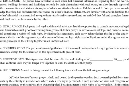 Best Free Fillable Forms Texas Cohabitation Agreement Form Free