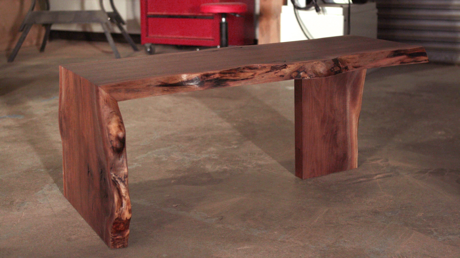 simple live edge slab table popular