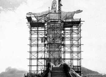 Resultado de imagem para construção do cristo redentor