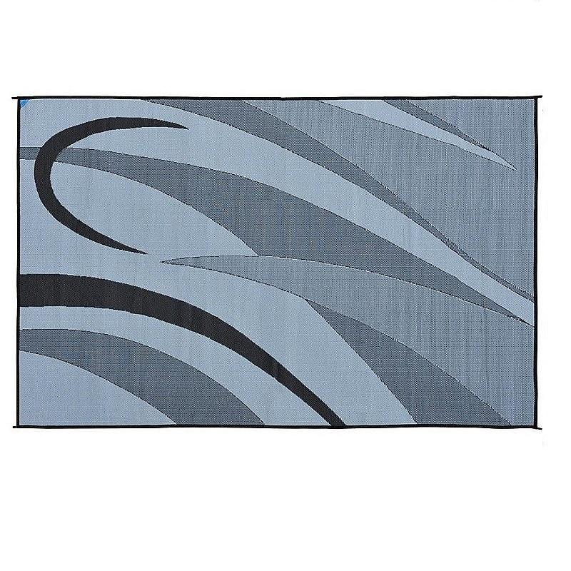patio mat 8x20 black silver