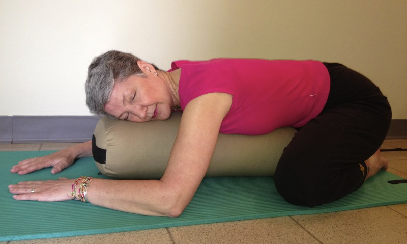 Restorative Yoga Supported Child's Pose | Power of Positivity