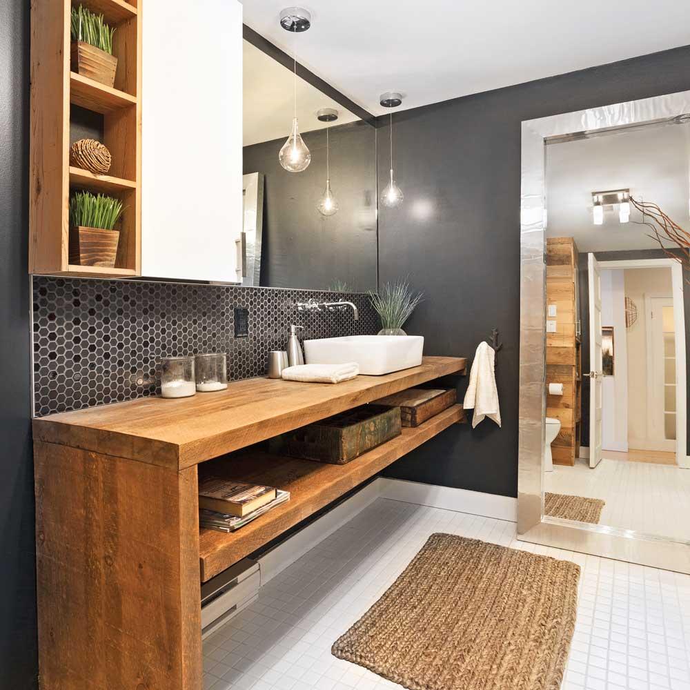 une salle de bain rustique chic je decore