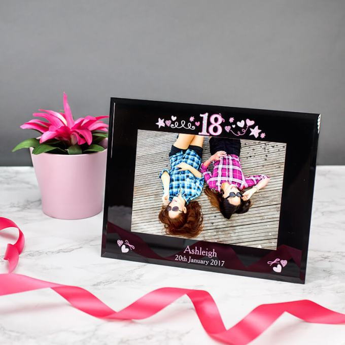 Personalised 18th Birthday Glass Photo Frame From Prezzybox Com