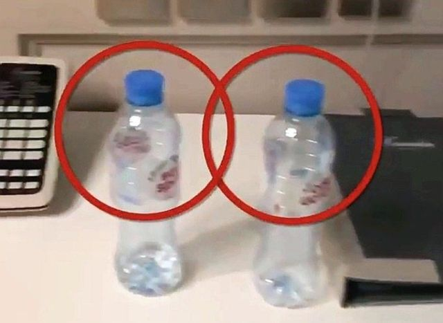 This photo was taken in Navalny's hotel room in Tomsk, where his team secured water bottles and other objects. One of the bottles contained traces of the poison.
