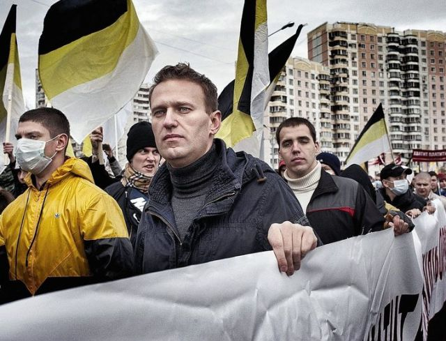 """Alexei Navalny was one of the co-organizers in 2011 of the """"Russian March"""" in Moscow, an annual rally of right-wing nationalists. He would later end his participation in the marches. But for years there has been persistent criticism of his open alliance with the nationalists at that time."""