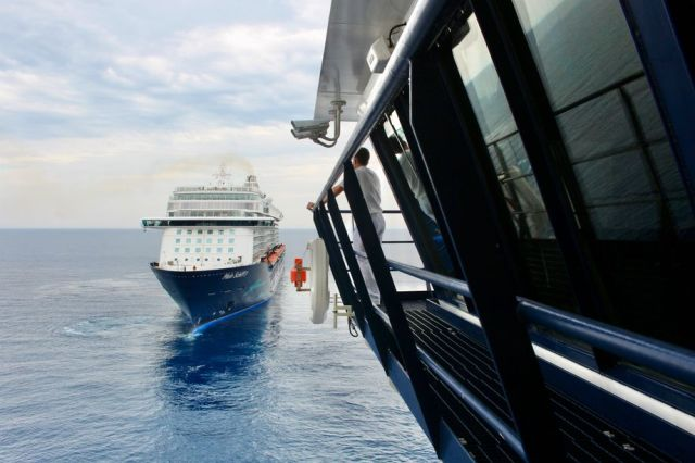 A meeting of Mein Schiff ships in the Mediterranean Sea