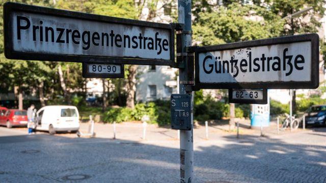 Skrzyżowanie w Berlinie-Wilmersdorf w pobliżu miejsca zbrodni