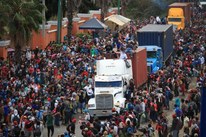 Migrants cross Guatemala on their way to the United States