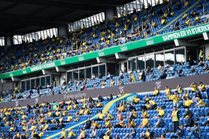 The Copenhagen derby between Brondby IF and FC Copenhagen on June 21, 2020 took place as one of three games as a test in front of spectators