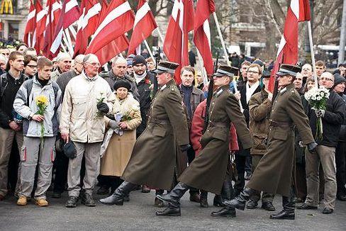Annual Ceremony Divides Latvia: Waffen SS Veterans March Through Riga - DER  SPIEGEL