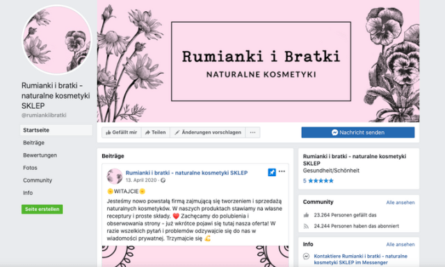 """""""Rumianki i bratki"""" looks like an online shop on Facebook. But it's actually a portal for women facing domestic violence and abuse."""