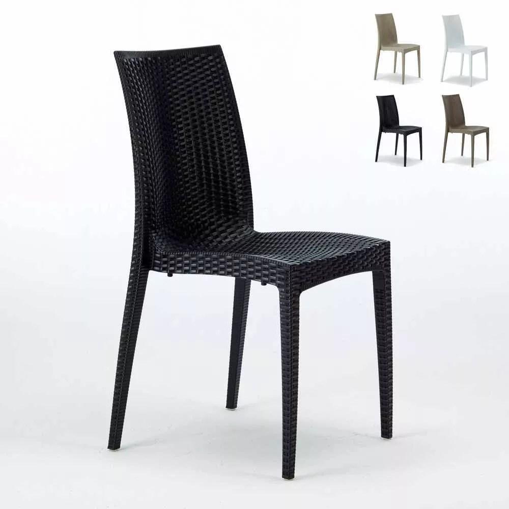 lot de 22 chaises de jardin en plastique empilables pour cafes bistrot