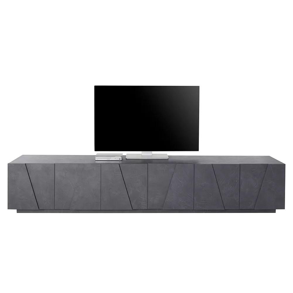 Eglemtek parete attrezzata swiss mobile soggiorno tv con mensola salotto legno base televisione sala da pranzo design moderno 200 x 41 x 46. Ping Low Xl Ardesia Tv Cabinet 6 Doors 3 Compartments Modern Design