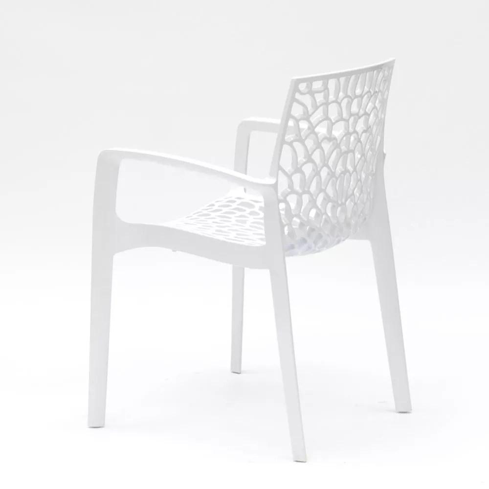 details sur chaise en polypropylene accoudoirs jardin cafe grand soleil gruvyer arm