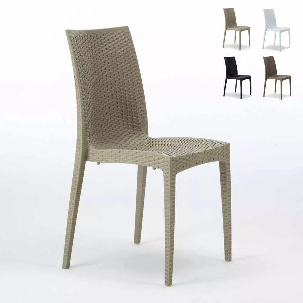 chaise d exterieur pour jardin et cafe empilable bistrot grand soleil