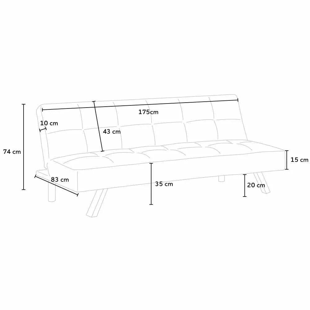 canape clic clac convertible en tissu deux places design moderne gemma