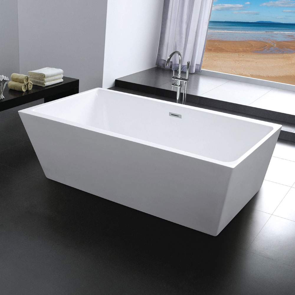 baignoire design ile rectangulaire autostable milo