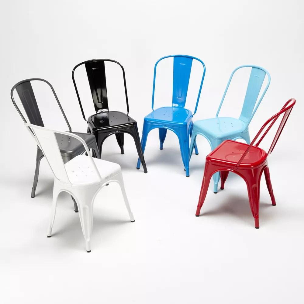steel one chaises tolix en acier industriel parfait bars et cuisines