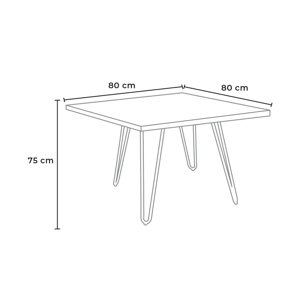 hammer table industrielle en acier et bois design elegant et moderne