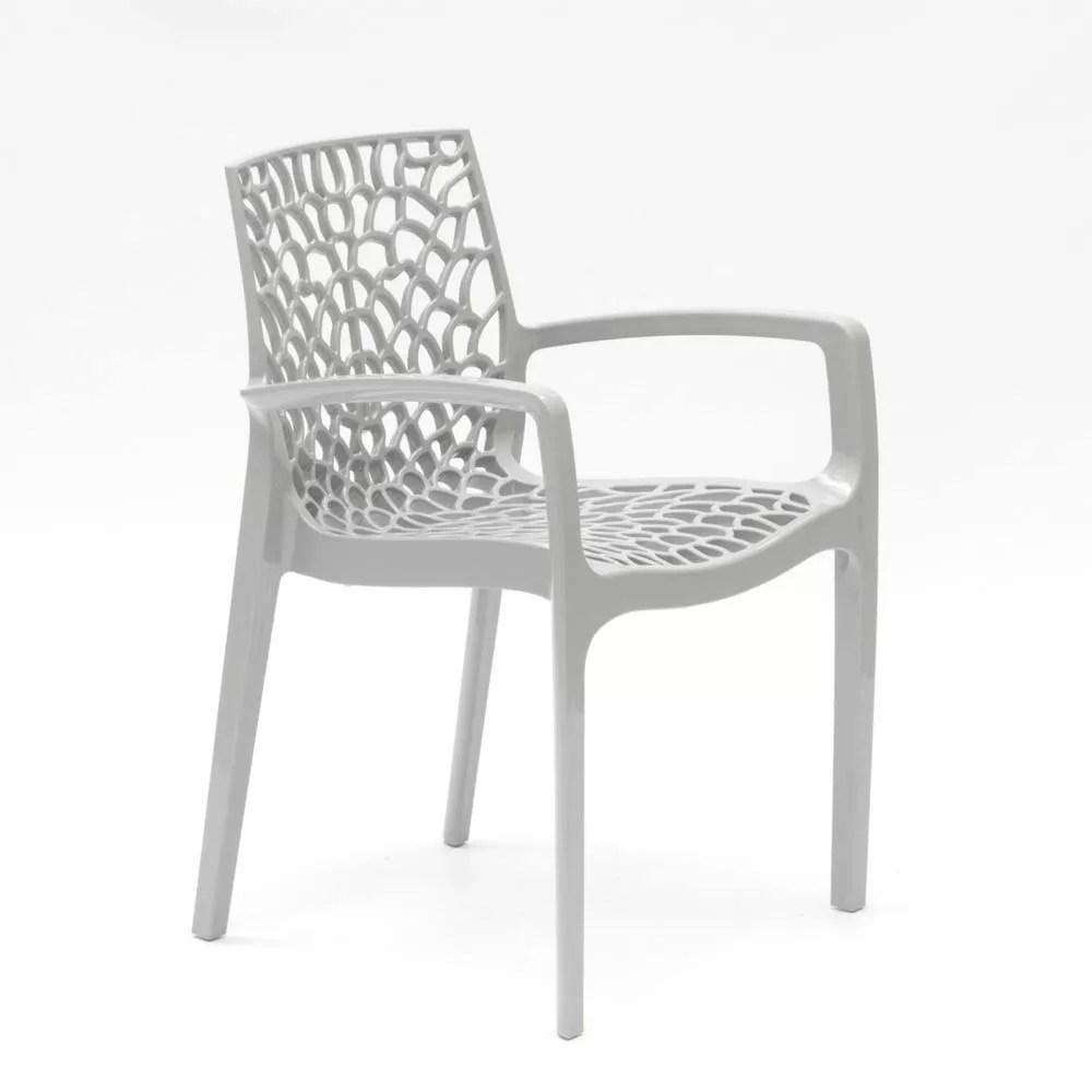 details sur 22 chaises gruvyer arm grand soleil accoudoirs polypropylene brillant lot