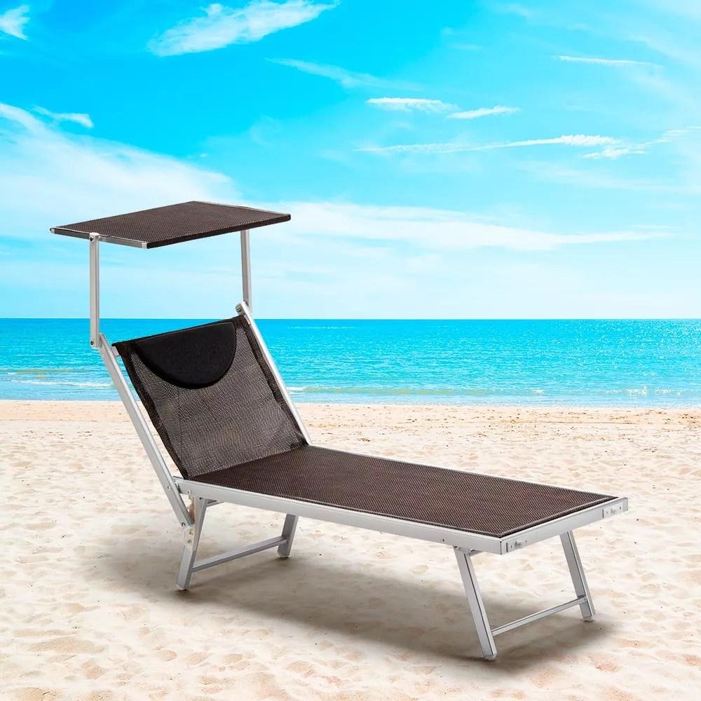bain de soleil et transats piscine aluminium santorini limited edition