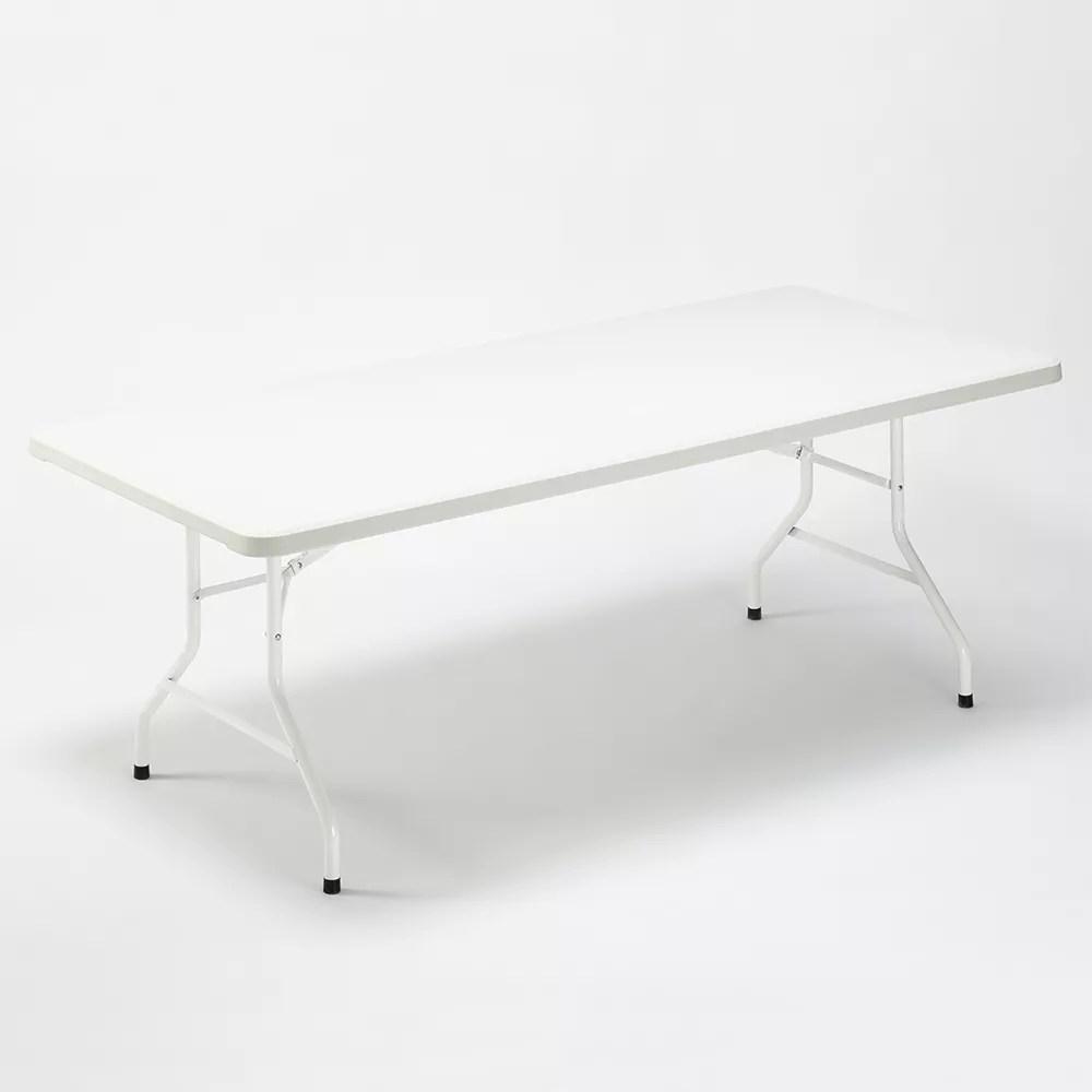 table pliante en plastique 200x90 cm pour jardin et camping dolomiti