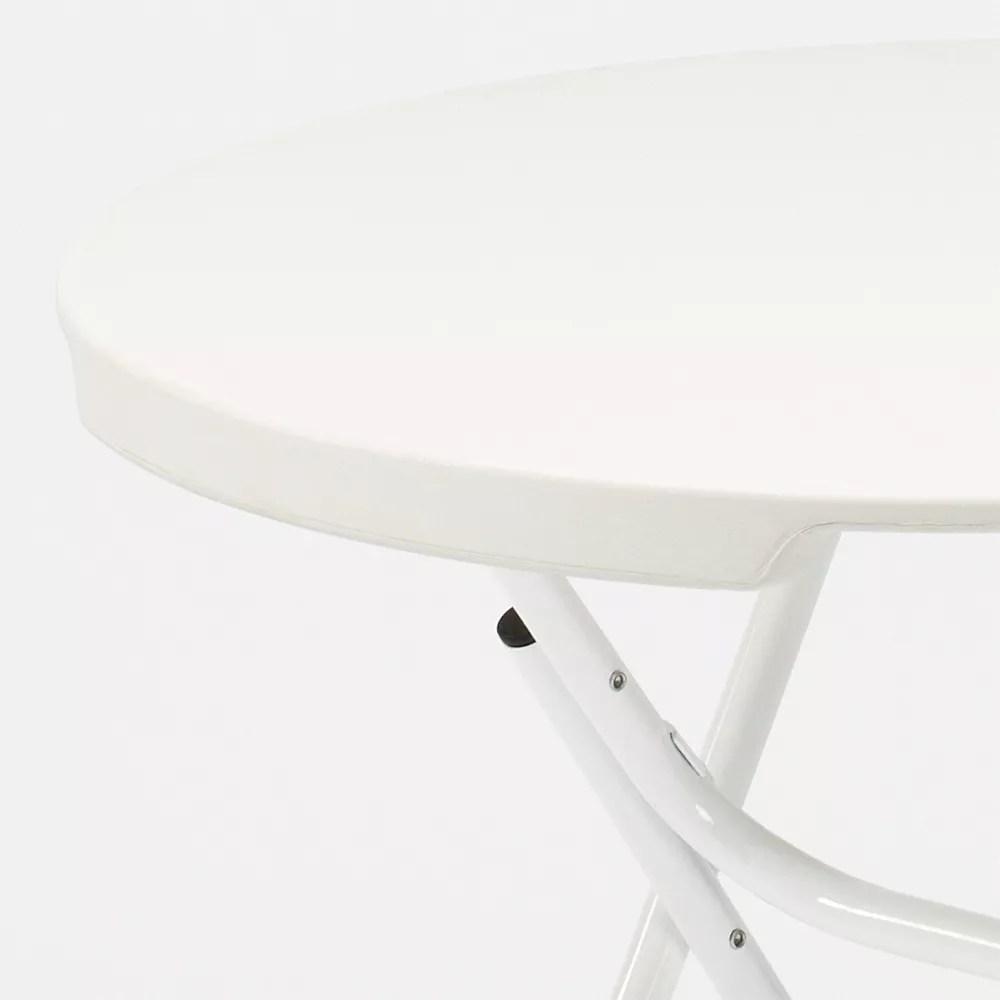 table ronde 80x80 et 4 chaises pliantes de camping et de jardin temple