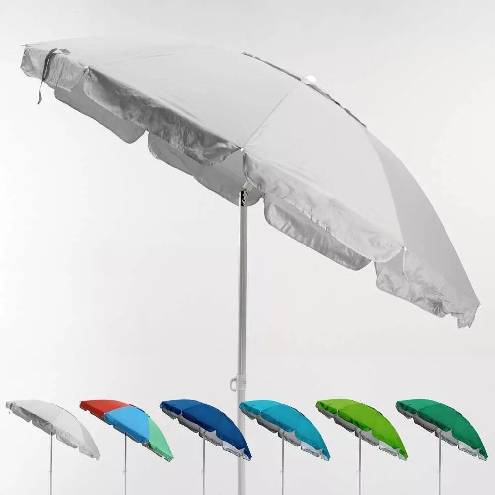 parasol de plage 220 cm anti vent protection uv portofino