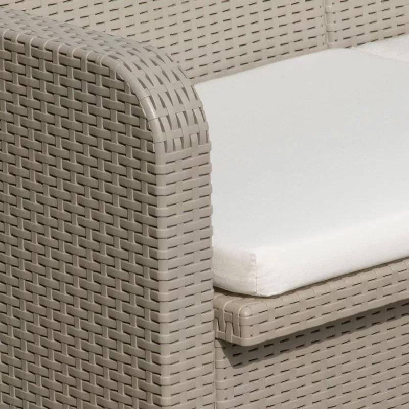 details sur salon de jardin grand soleil sorrento rotin table fauteuils exterieur 4 places