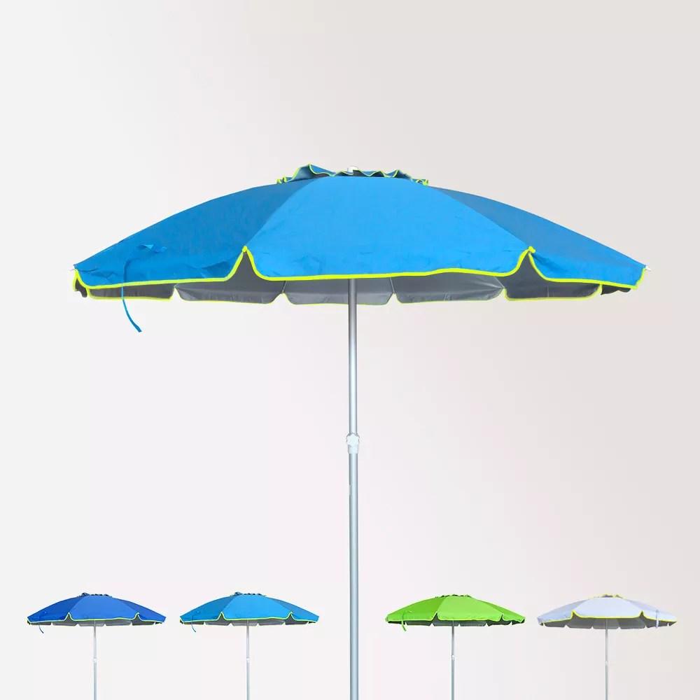 (anti uv) grande ombrellone da spiaggia con tessuto a 4 strati, eccellente protezione dai raggi uv. Ombrellone Antivento In Alluminio Spiaggia Mare Con Antiuv 220cm Roma