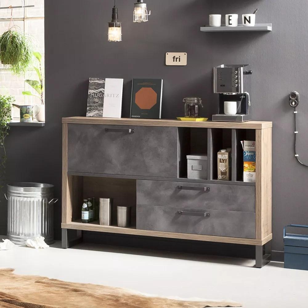 I designer offrono soluzioni interessanti in questo stile per cucine, soggiorni e camere da letto. Melbourne Cassettiera Stile Industriale Per Soggiorno E Camera Da Letto